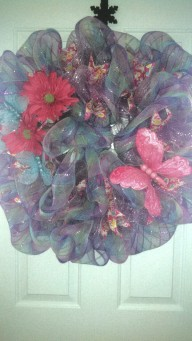 Pink Butterfly wreath