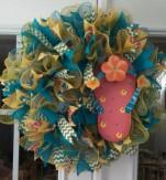 Beach Sandal Wreath