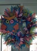 Blue Owl Wreath (2)