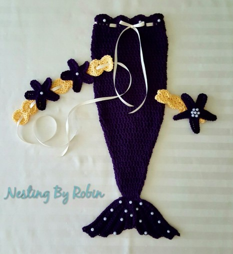 Mermaid Ensemble Newborn - 12 mos. $30