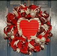 Washboard Valentine Wreath $119