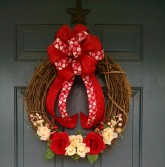 Valentine Grape Vine Wreath