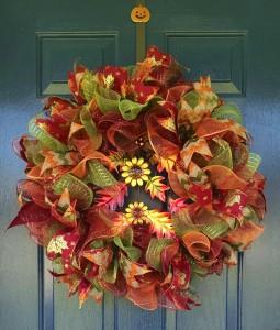 Metal Sunflower Wreath