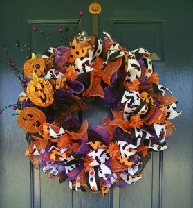 Pumpkin Bat Wreath