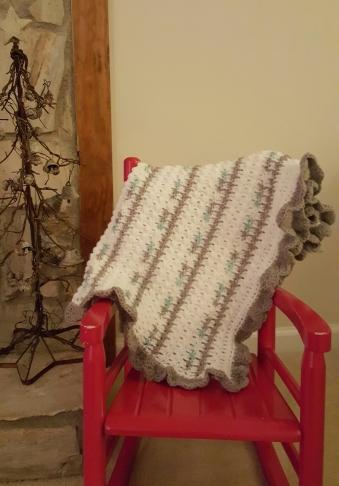 Stroller/Carrier Blanket Soft Baby yarn Price: $45