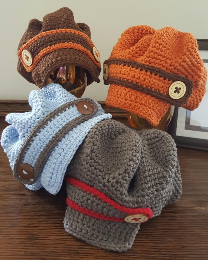 Newboy Crochet HatNewborn size only 50/50 Cotton/Acrylic yarn $15