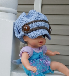 Newsboy Crochet Hat2