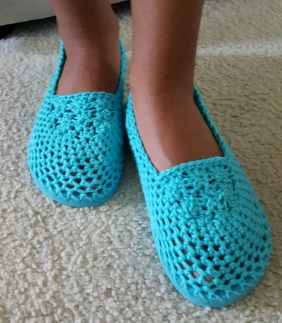 Crochet Flip Flop Slippers (S,M,L sizes) $10 per pair