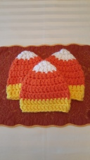 Candy Corn Hats Newborn to toddler sizes Price: $10