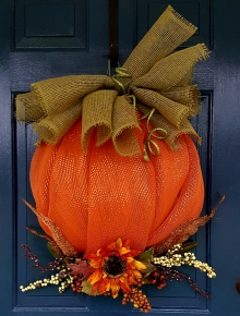 "Pumpkin Season 24-26"" Deco Mesh Price: $60"