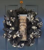 Halloween Skull Wreath $60